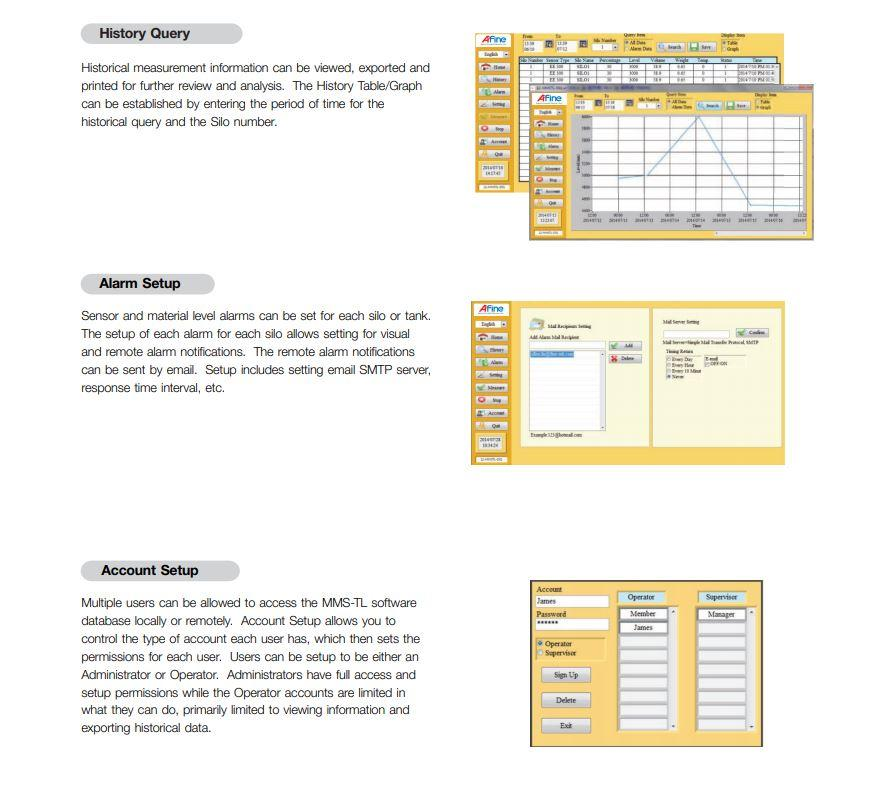 Materials Management in liquid or bulk solid