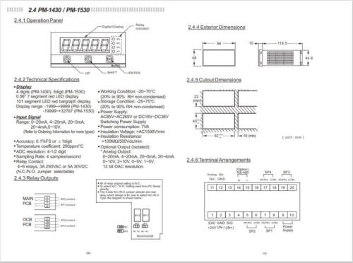 Microprocessor-Panel-Meter-Operation-Manual