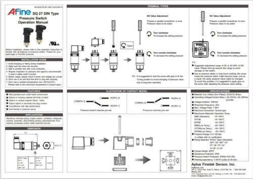 pressure switches