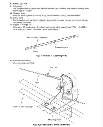 SRS/SRT/ED Belt Conveyor Safety Products Sales Catalog